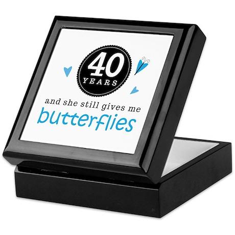 40 Year Anniversary Butterfly Keepsake Box