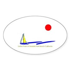 Surfers Point Oval Decal