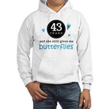 43 Year Anniversary Butterfly Hoodie