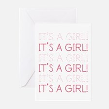 Pink It's a Girl Greeting Cards (Pk of 10)