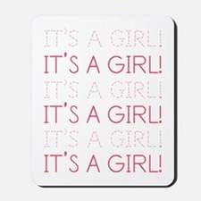 Pink It's a Girl Mousepad