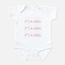 Pink It's a Girl Infant Bodysuit