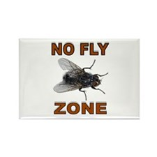 NO FLY ZONE Rectangle Magnet