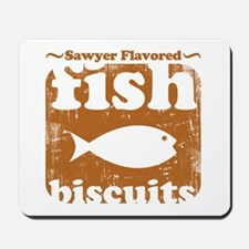 fish biscuits Mousepad