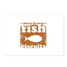 fish biscuits Postcards (Package of 8)