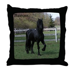 Baron Heads up Throw Pillow