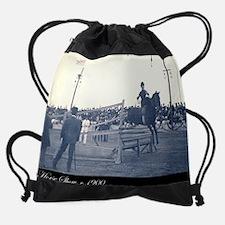 Cute Horse saddle Drawstring Bag