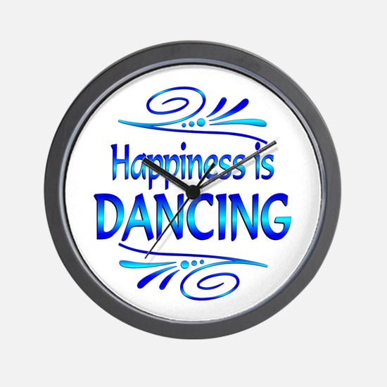 Happiness is Dancing Wall Clock