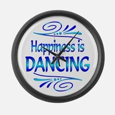 Happiness is Dancing Large Wall Clock