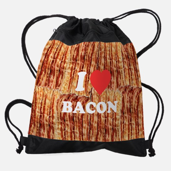 I love Bacon Drawstring Bag