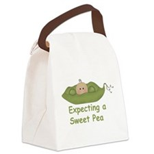 Expecting A Sweet Pea Canvas Lunch Bag