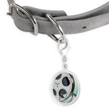 Close up of film reel Small Oval Pet Tag