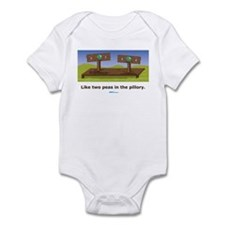 in the pillory Infant Bodysuit