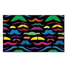 Mustache Color Pattern Black Decal