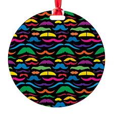 Mustache Color Pattern Black Ornament