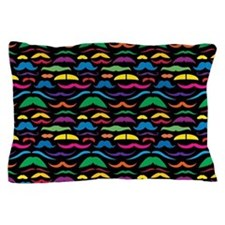 Mustach Color Pattern B Pillow Case