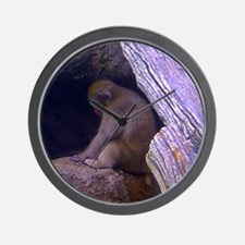 japanese macaque Wall Clock