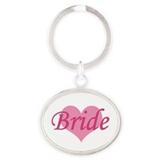 Bride Oval Keychain