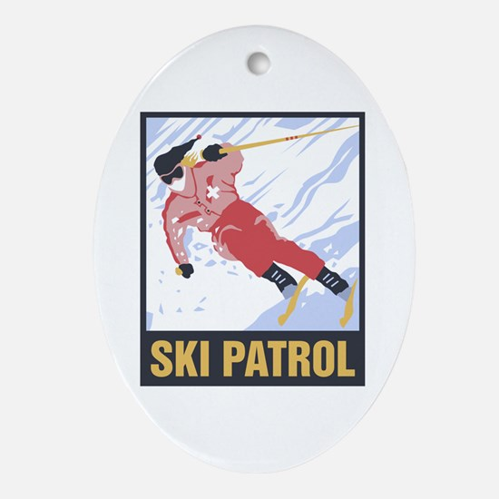 Ski Patrol Ceramic Ornament