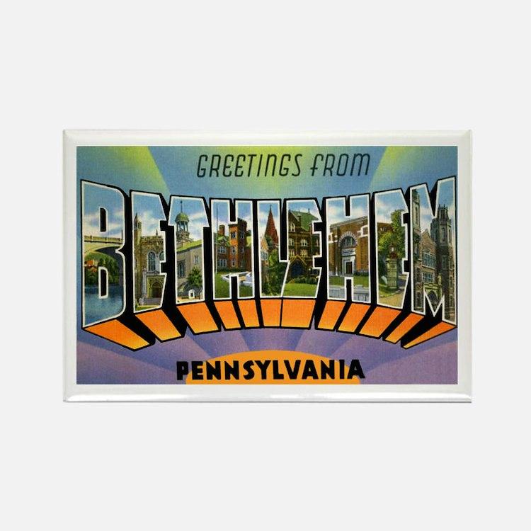 Bethlehem Pennsylvania Greetings Rectangle Magnet