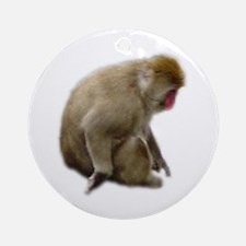 snow monkey Ornament (Round)
