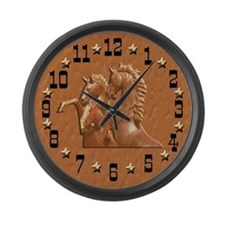 Western Theme Clock Large Wall Clock