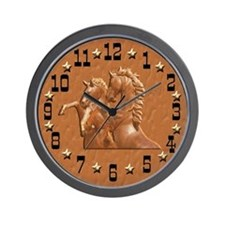 Western Theme Clock Wall Clock