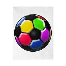 Rainbow Soccer Ball Twin Duvet