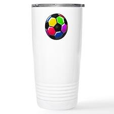 Rainbow Soccer Ball Travel Mug