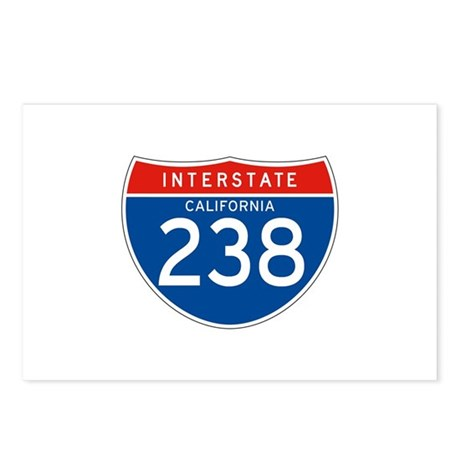 Interstate 238 - CA Postcards (Package of 8)