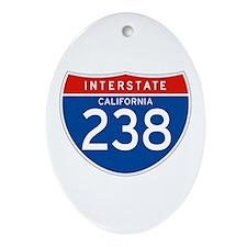 Interstate 238 - CA Oval Ornament