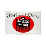 Poker Diva Rectangle Magnet (10 pack)