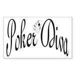 Poker Diva Rectangle Sticker