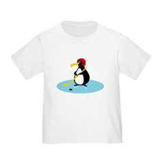 Hockey Penguin Toddler T-Shirt