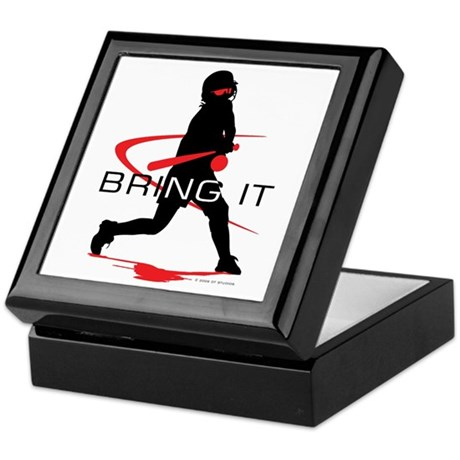 Softball Freak Pink Keepsake Box