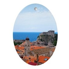 Old City and Adriatic Sea Ornament (Oval)