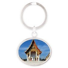 Wat Prang Luang Oval Keychain