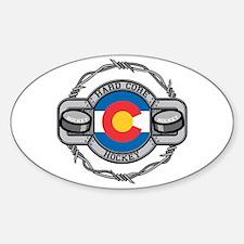 Colorado Hockey Oval Decal