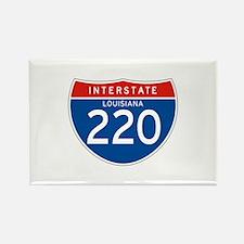 Interstate 220 - LA Rectangle Magnet