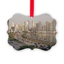 Panama City skyline Picture Ornament