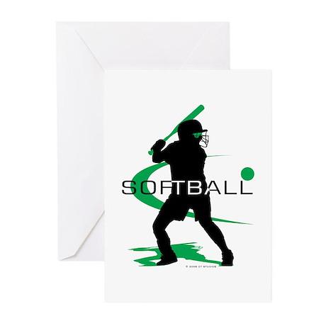 Softball Freak Pink Greeting Cards (Pk of 10)