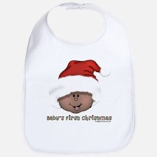 African American Baby's First Christmas Bib