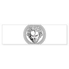 New Arlovski Logo White Bumper Bumper Sticker