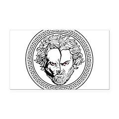 New Arlovski Logo White Rectangle Car Magnet