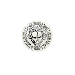New Arlovski Logo White Mini Button