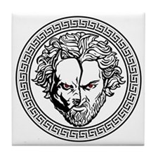 New Arlovski Logo White Tile Coaster