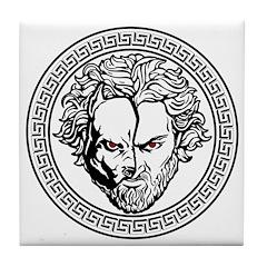New Arlovski Logo White Tile Coaster