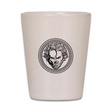 New Arlovski Logo White Shot Glass