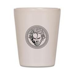 New Arlovski Logo White Shot Glass
