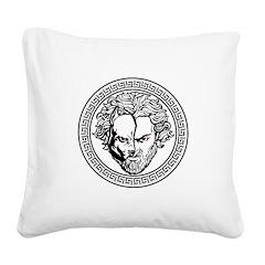 New Arlovski Logo White Square Canvas Pillow